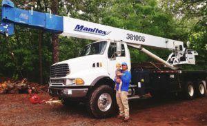 Sharp Tree Service Crane for Tree Removal