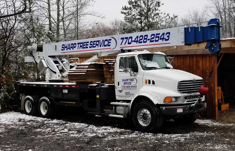 Sharp Tree Service - Tree Service Crane